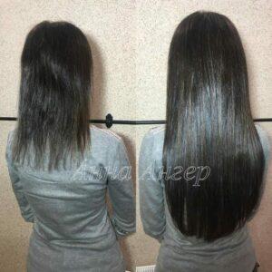 Наращивание волос в СПб от Анны Ангер - пример работы