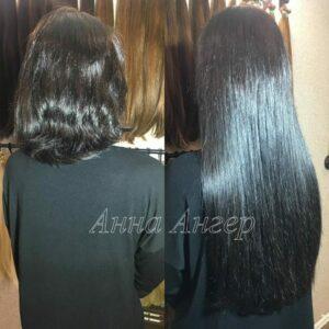 итальянское наращивание волос до и после