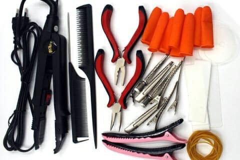 набор инструментов для наращивания волос