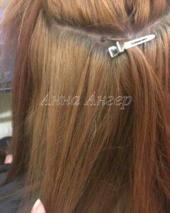 капсула в наращивании волос на голове