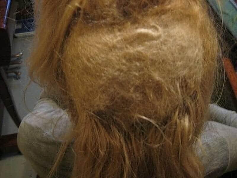 ужасное наращивание волос колтуны