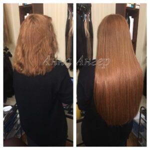 наращивание волос пример работы от Анны Ангер
