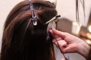 как наращивают волосы фото