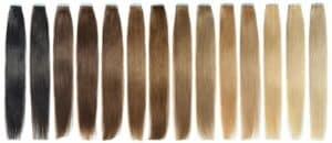 волосы разных цветов и оттенков