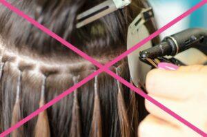 большие капсулы - неудачное наращивание волос