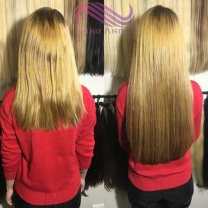объем наращивания 150-170 средяя густота волос