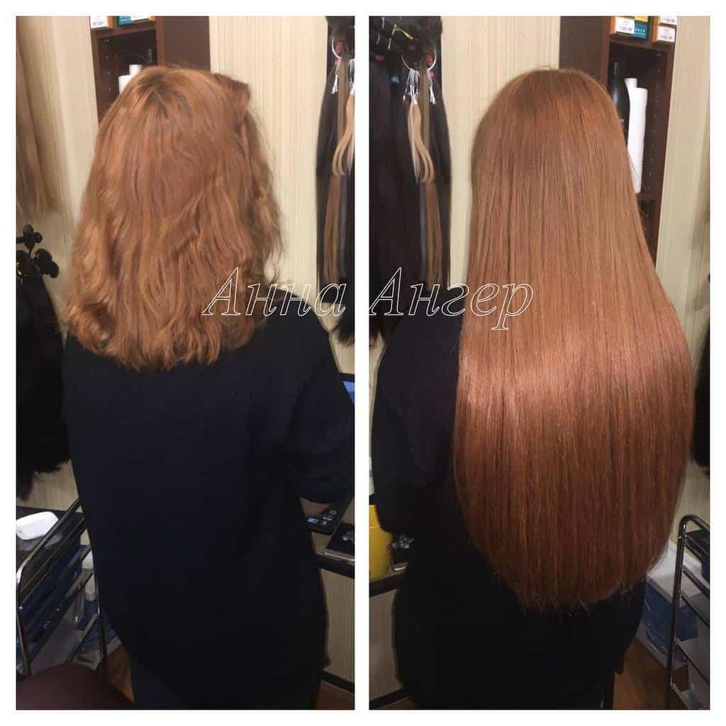качественное наращивание волос 2